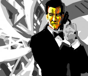 Bond knockoff: The man with the golden face