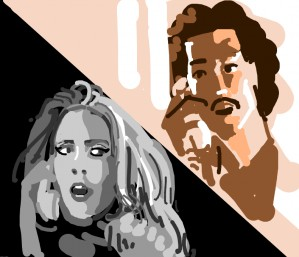 """Lionel Richie and Adele saying """"Hello"""" to each other"""