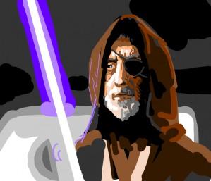 Obi wan kenobi with an eyepatch