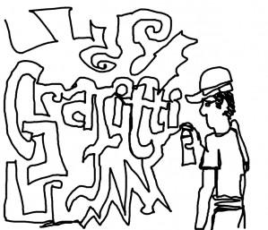 "Graffiti guy failed to spell ""graffiti"" to make a graffiti"