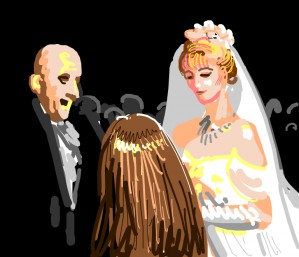 Uncle Fester's and Debbie's wedding. Cousin Itt attends