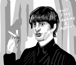 Ringo Starr has been awake for days; He smokes to stay alert