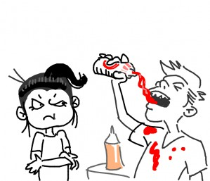 Ketchup-guzzling show-off annoys @KannaBeta